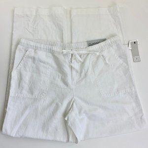 Liz Claiborne Straight Leg Linen Blend Pants L
